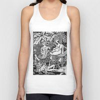 bisexual Tank Tops featuring Psychedelic Visions of the Bisexual Shaman Chicks by cahill wessel