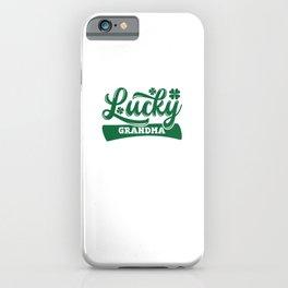 Lucky Grandma Irish Saint Patrick's Day iPhone Case