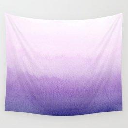 Purple Watercolor Design Wall Tapestry