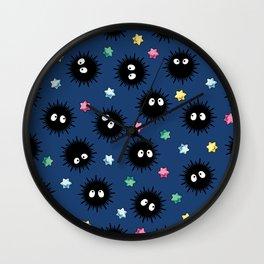 Soot Sprites (Dark Blue) Wall Clock