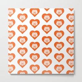 Tiger Mascot Cares Orange Metal Print