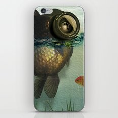 Fish eye lens iPhone & iPod Skin