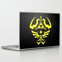 hyrule Laptop & iPad Skins featuring Hyrule Shield  by WaXaVeJu