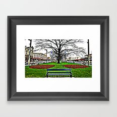 A country town somewhere in Australia Framed Art Print
