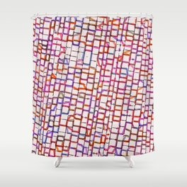 Snakes and Ladders and Bricks Shower Curtain