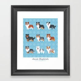 Aussie Shepherds Framed Art Print