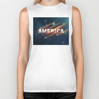 america Biker Tanks featuring America  by politics