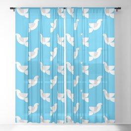 Geometric Dove Sheer Curtain