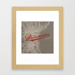 Milwaukee Map Framed Art Print