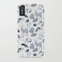 Northern forest (white pattern) iPhone Case