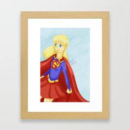 Super Girl Framed Art Print
