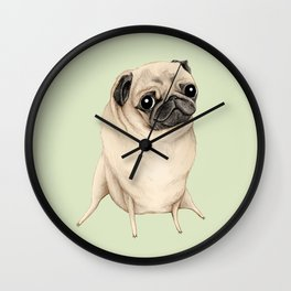 Sweet Fawn Pug Wall Clock