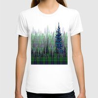 plaid T-shirts featuring Plaid Forest by LindaWexlerArt