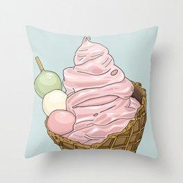 Dangocream Throw Pillow
