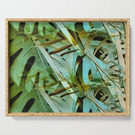 Monstera & Palm Serving Tray