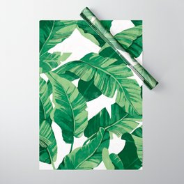 Tropical banana leaves IV Wrapping Paper