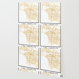 LOS ANGELES CALIFORNIA CITY STREET MAP ART Wallpaper