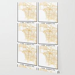 LOS ANGELES CALIFORNIA CITY STREET MAP ART Wallpaper