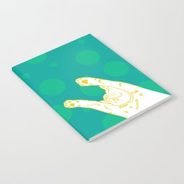 Contented Cat - Green Spots Notebook