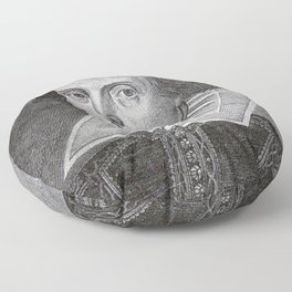 William Shakespeare Floor Pillow