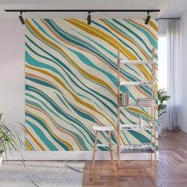 Summer Ocean / Teal & Gold Wall Mural