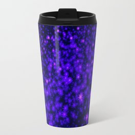 Christmas Blue Purple Night Snowflakes Travel Mug