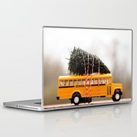 christmas tree Laptop & iPad Skins featuring Christmas Tree by Beverly LeFevre