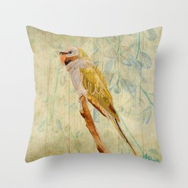 Derbyan Parakeet I Throw Pillow
