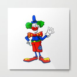 clown cartoon Metal Print