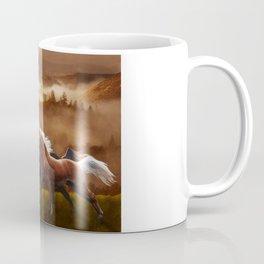 A Race at Sunset Coffee Mug