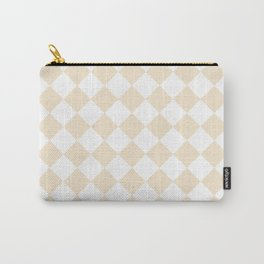 Diamonds - White and Champagne Orange Carry-All Pouch