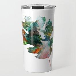 Autumn Leaf Art Travel Mug