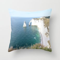 Cliffs at Etretat Throw Pillow