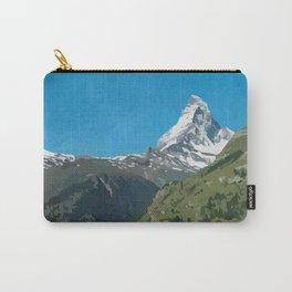 Retro Swiss travel Zermatt and Mount Matterhorn  Carry-All Pouch