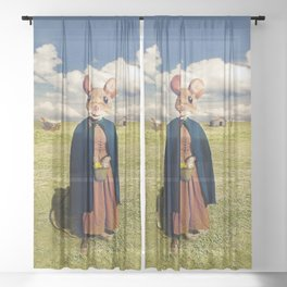 Little Mouse on the Prairie Sheer Curtain