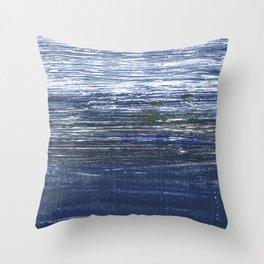 Deep koamaru abstract watercolor Throw Pillow