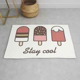 Stay cool popsicles Rug