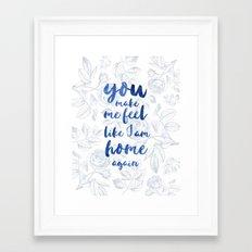 LOVESONG ROSES BLUE Framed Art Print