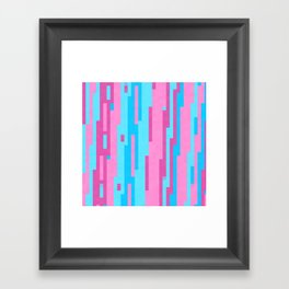 Pink and Blue abstract Framed Art Print