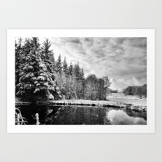 Elterwater Snow Art Print
