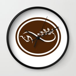 Horse Mobius Strip Branch Oval Wall Clock