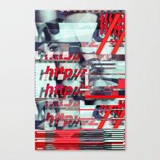 Glitch Decon 1 Canvas Print