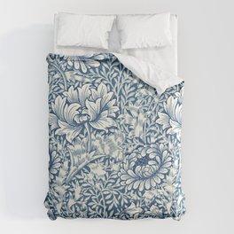William Morris Navy Blue Botanical Pattern 8 Comforters