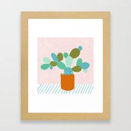 modern cacti Framed Art Print
