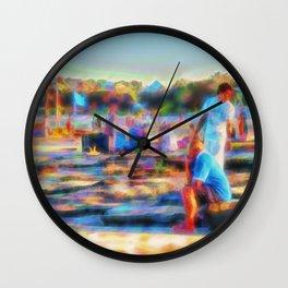 Summer fun at the beach Wall Clock