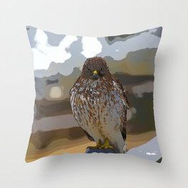 Chicken Hawk Starring Down At Me Throw Pillow
