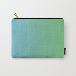 Blue and Green Transition Carry-All Pouch