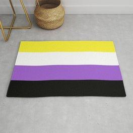 Nonbinary Pride Flag Rug