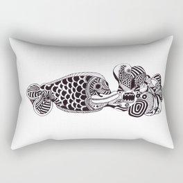 Fish Can Talk  Rectangular Pillow
