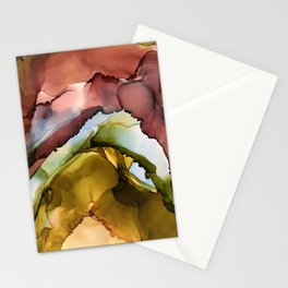 rainbow geode Stationery Cards